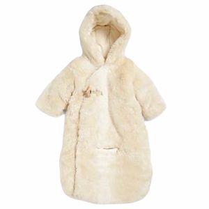 NWT Ralph Lauren Newborn Infant's Fur Bunting